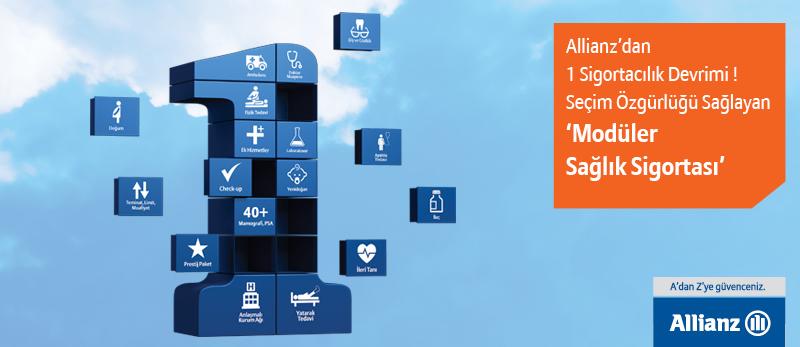 Allianz Sigorta' dan bir devrim. Seçim özgürlüğü sağlayan Moduler Sağlık Sigortası
